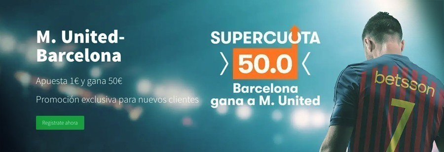 Promoción Champions League Manchester United Barcelona