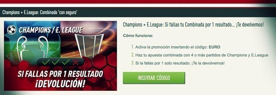 Promoción Sportium Champions League y Europa League