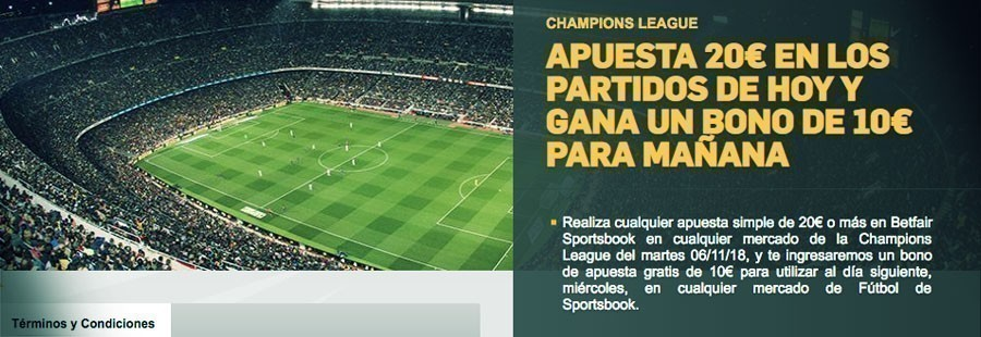 Promoción Betfair Champions League
