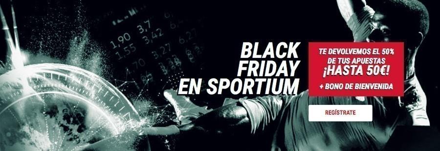 Promoción Black Friday de Sportium