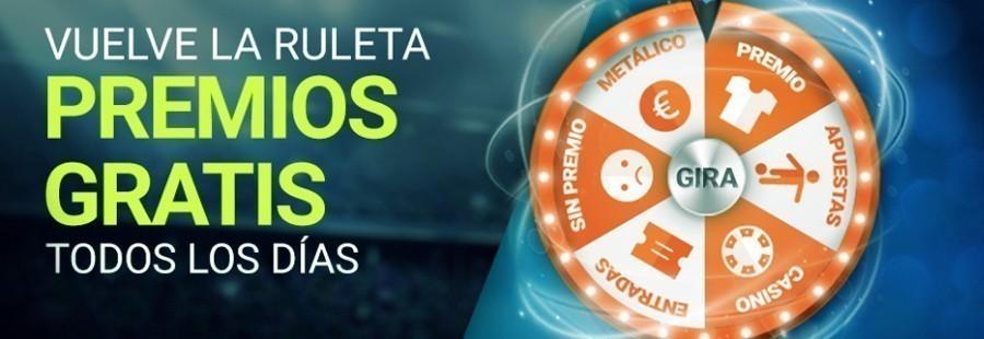Promoción Luckia ruleta de premios GRATIS