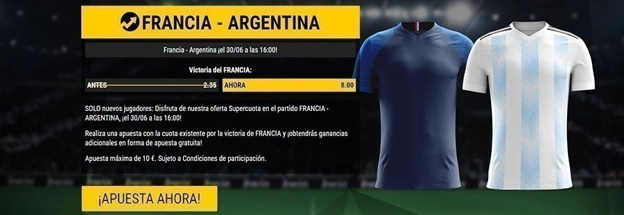 aprovecha la supercuota para el partido Francia-Argentina