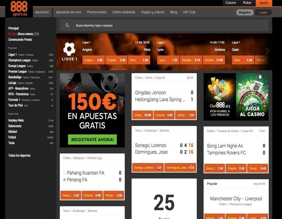 888sport: apuestas deportivas disponibles