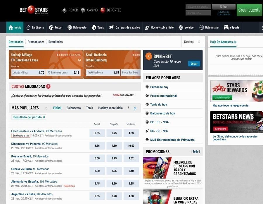 Betstars web