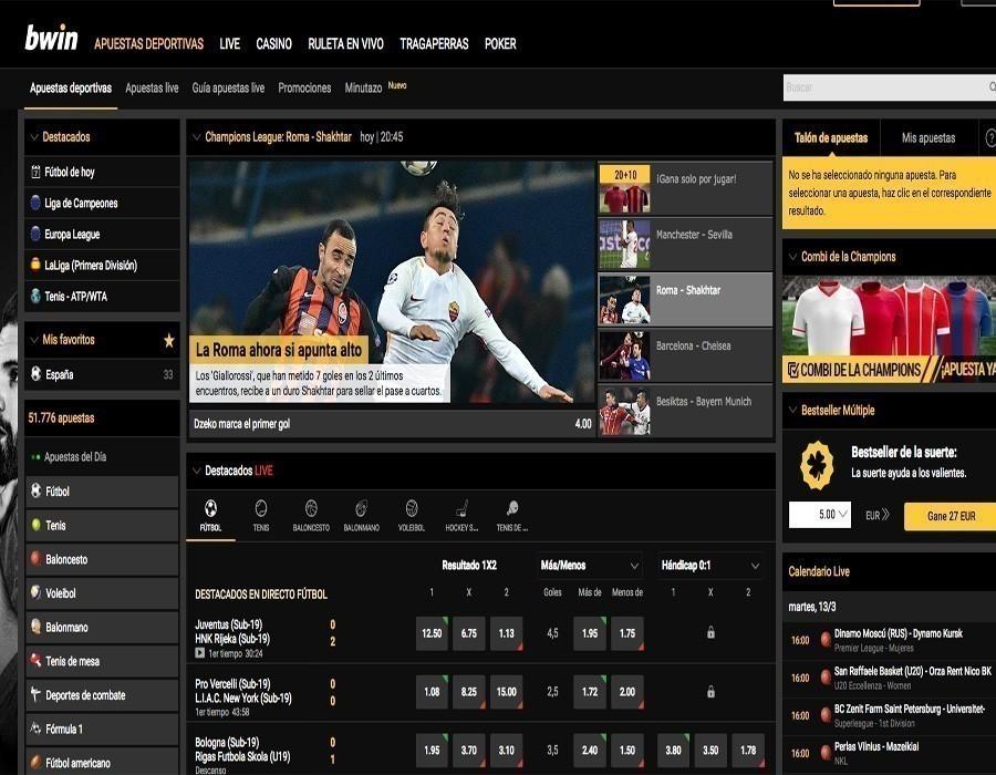 Bwin apuestas deportivas disponibles