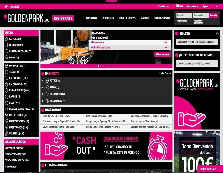 Goldenpark web