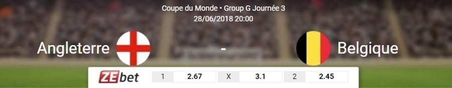 Date Angleterre Belgique Coupe du Monde 2018