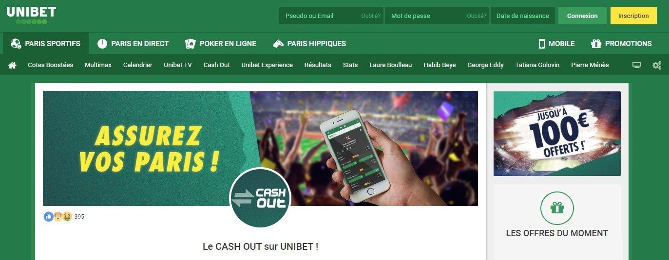 Cash Out Unibet