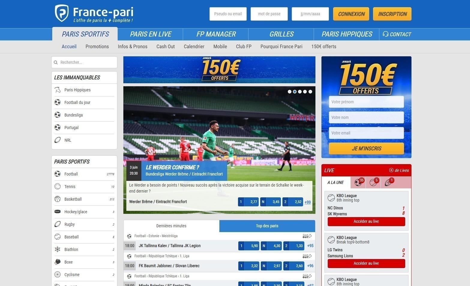 Site France Pari