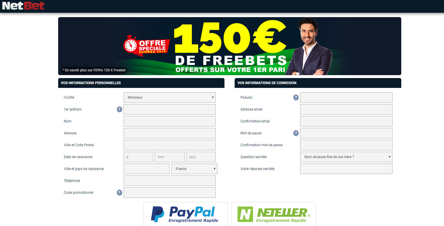 Code Promo Inscription Netbet