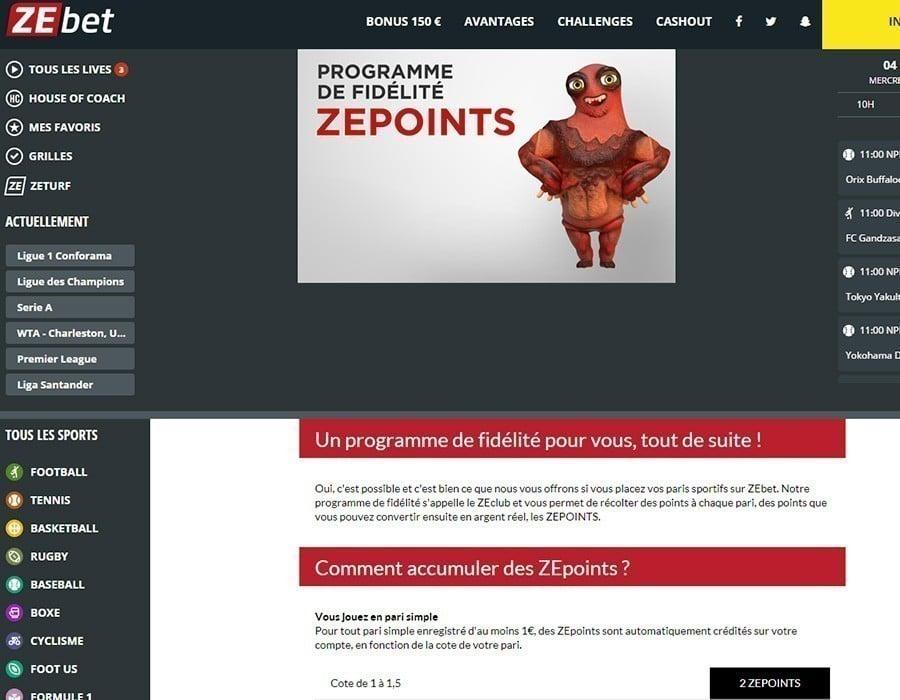 promotion zebet