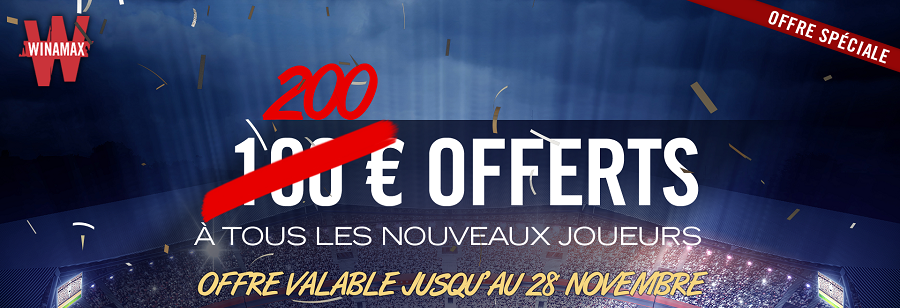 Bonus Winamax 200€ - Novembre 2018