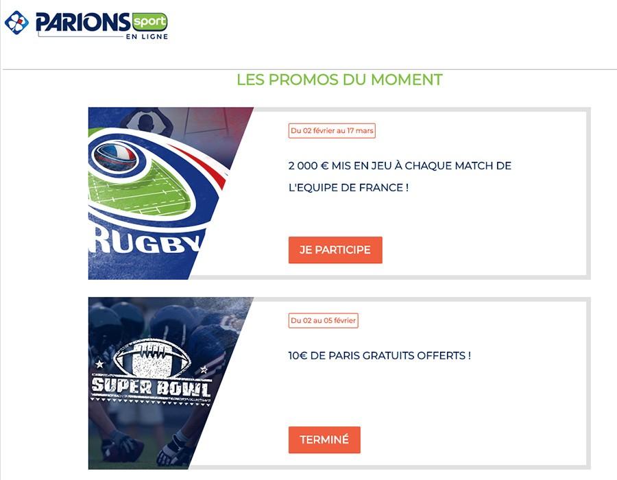 Promotion Parions Sport