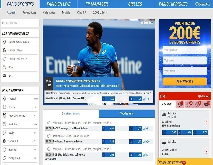France Pari offre sport