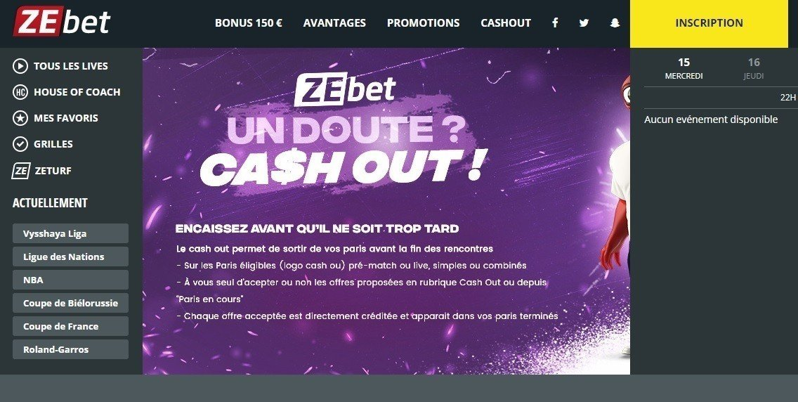 Comment Cash Out sur Zebet