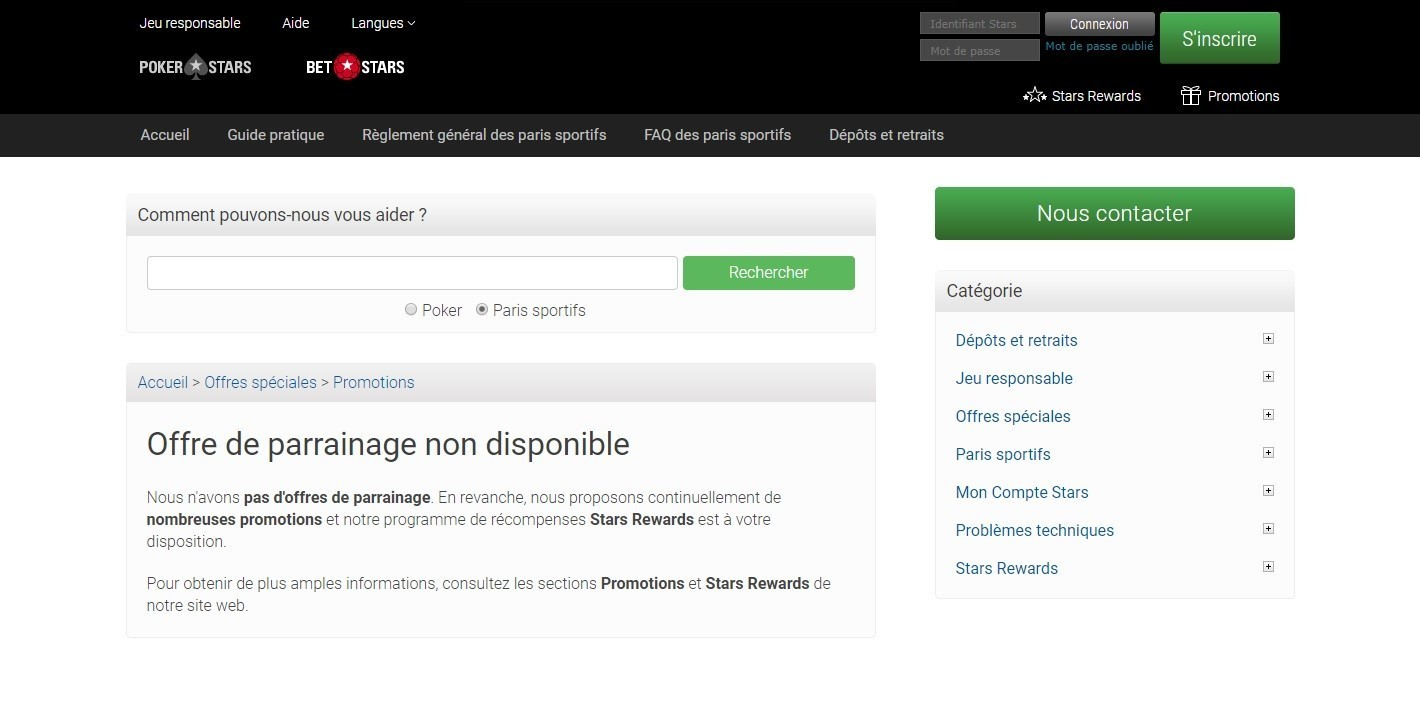 Comment parrainer sur Pokerstars Sports ?
