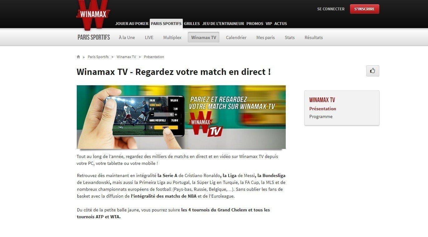 Regarder Winamax TV