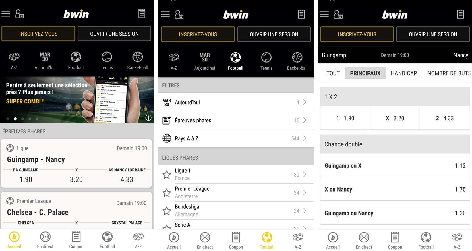 Téléchargement Application Bwin - Paris sportifs