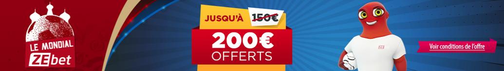 Bonus Zebet 200€