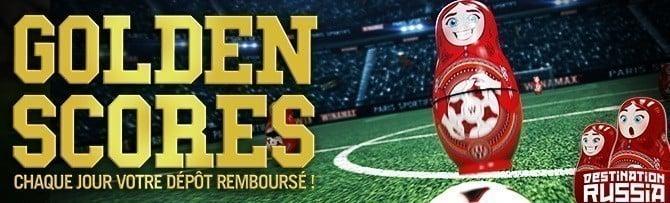 Promotion Winamax - Goldenscores Coupe du Monde 2018