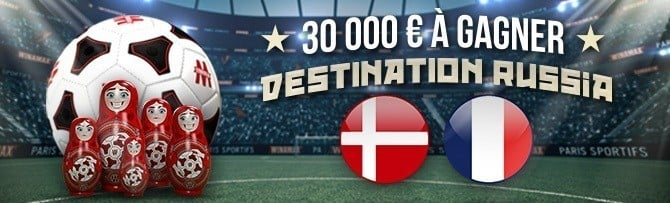 Promotion Winamax - Danemark France Coupe du Monde