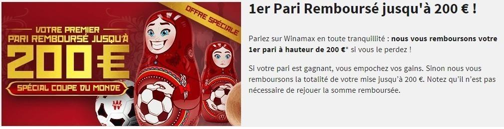 Bonus 200 euros Winamax - 2018
