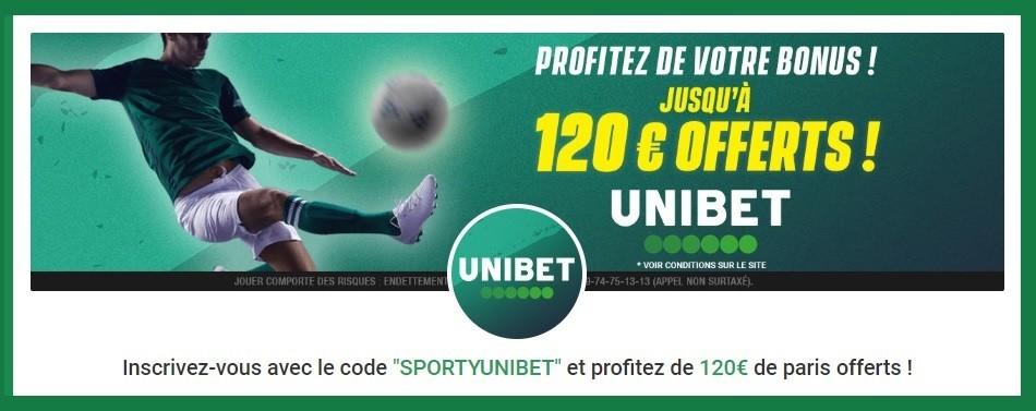 Promo Unibet - Bonus de Bienvenue