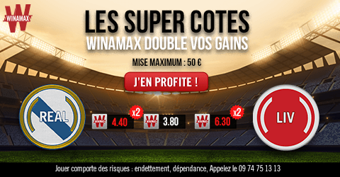 cotes boostees Winamax - Finale Ligue des Champions Real Madrid Liverpool