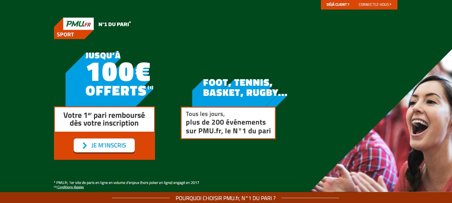 Bonus PMU Sport 100€ - 2019