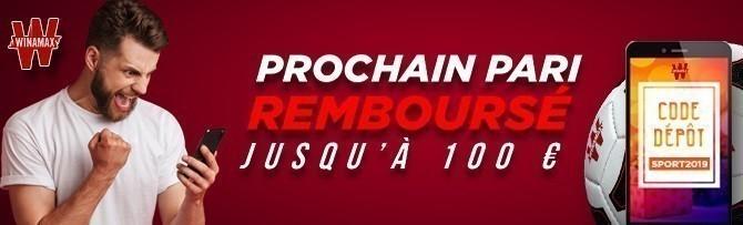 Promotion Winamax 2019 - Pari remboursé