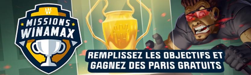 Promo Winamax - Missions Paris Sportifs
