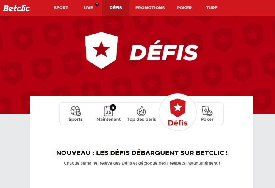 Promotion Betclic Défis