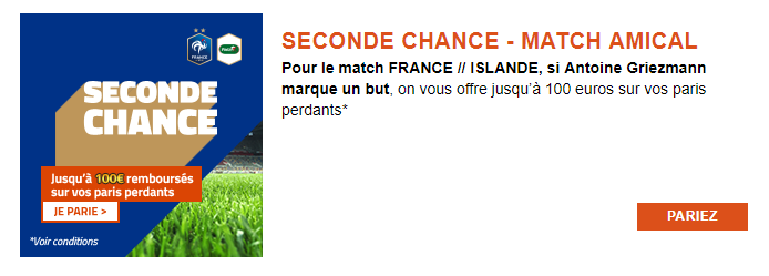 Promotion PMU - France Islande Match Amical