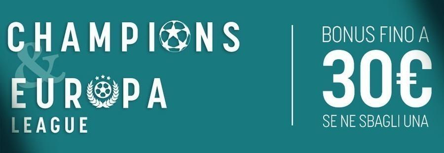 bonus champions league snai