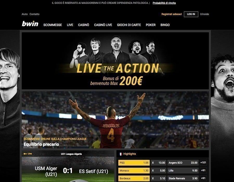 Bwin sito web