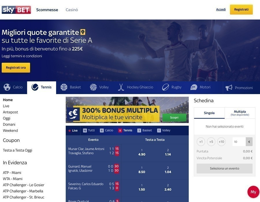 Skybet scommesse