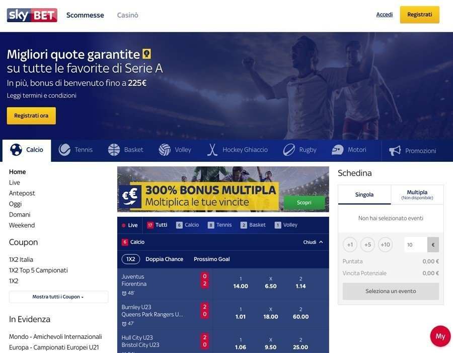 Skybet sito web
