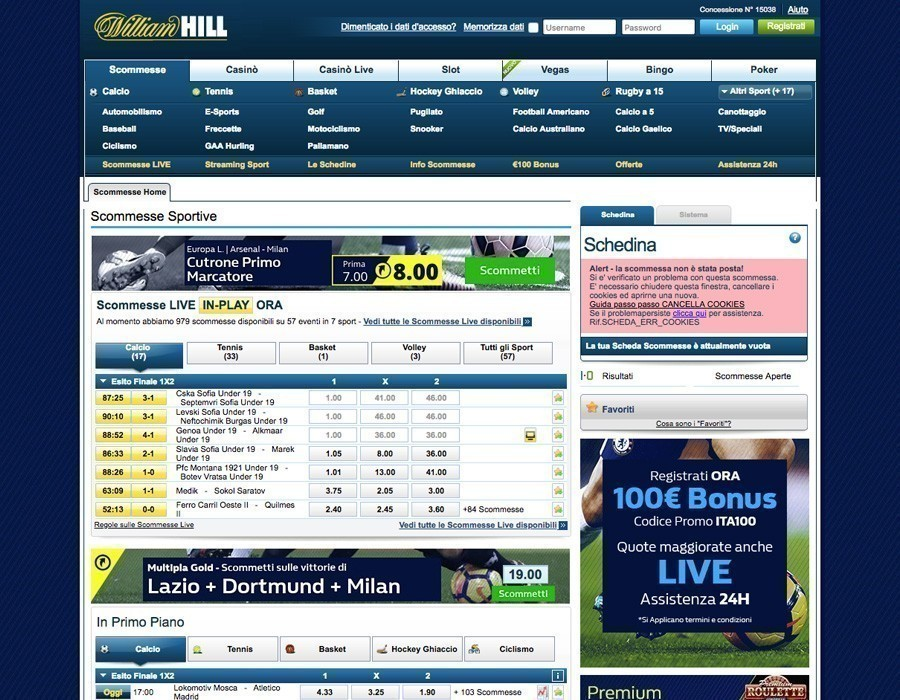 William Hill sito web