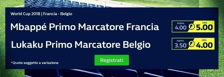 Francia Belgio quota maggiorate