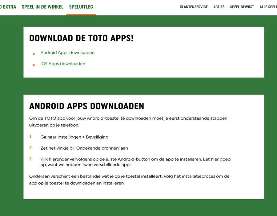 toto app downloaden