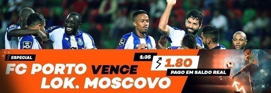 Apostas especial Europa - FC Porto - Lokomotiv