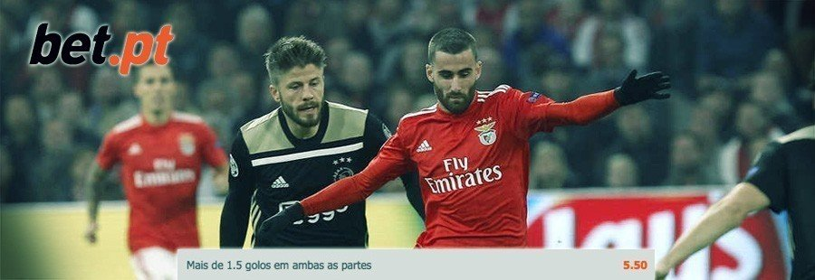 Apostas especial Europa - Benfica-Ajax