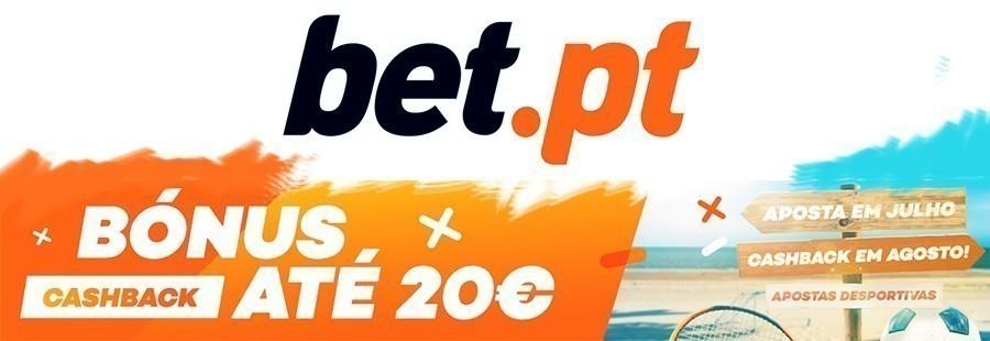 Promoção Bet.pt: Cashback Julho-Agosto