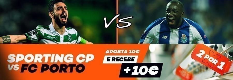 Promoção 2 por 1: Sporting CP-FC Porto (10€)