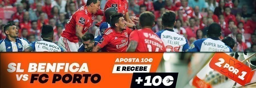 2 por 1 no Clássico SL Benfica-FC Porto vale oferta de 10€!