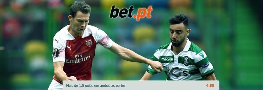 Bet.pt - Aposta especial Arsenal-Sporting