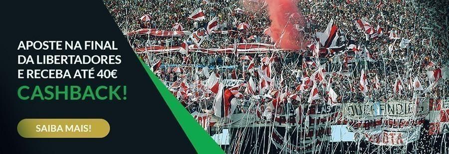 Apostar Final Copa Libertadores Cashbak 40€ - ESC Online