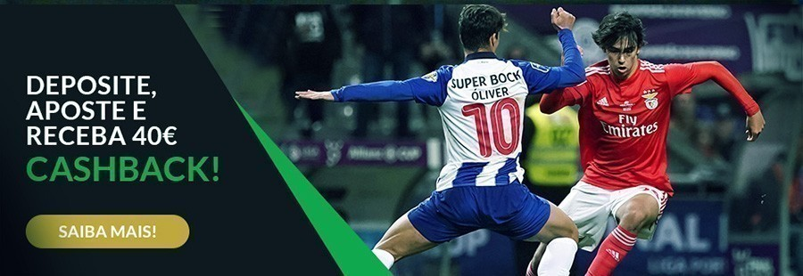 FC Porto - SL Benfica: 40€ cashback na ESC Online