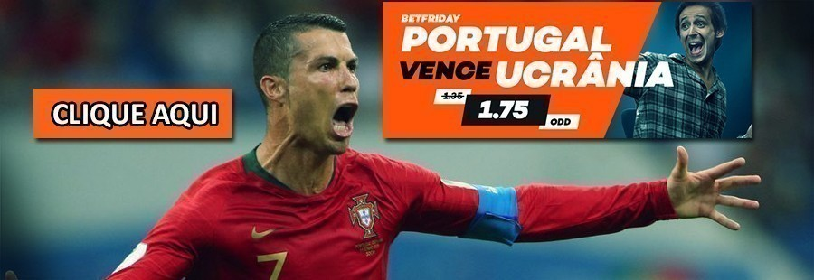 Portugal vence Ucrânia - 1.75 na Bet.pt