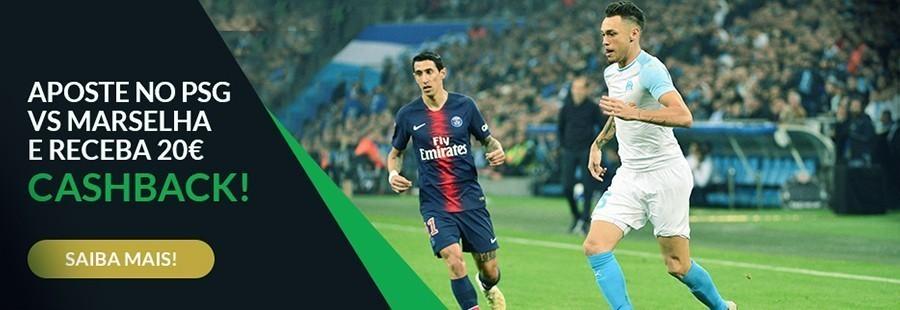 PSG – Marseille: Promoção ESC online 20 euros cashback!